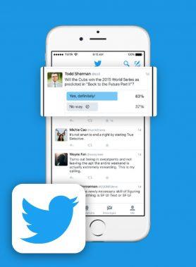 votos en encuestas de twitter